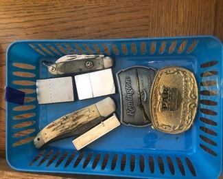 Vintage Knives and Zippo Lighters