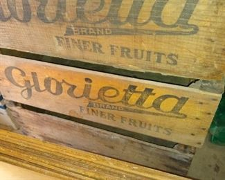 Lots of fruit crates