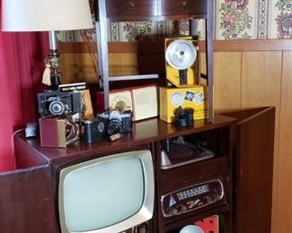 1950's Sparton Television, Radio and Turntable console