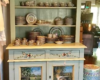 A beautiful hand painted cabinet.