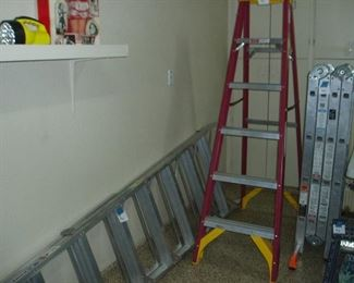 6' / 10' Step Ladders. 12' Folding Extension Ladder