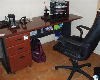 Bushes Desk & File Cabinet, Chair