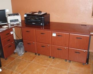 Bushes Desk & File Cabinets, Printers