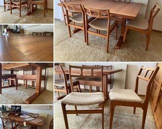Table (Table SOLD) is in pristine condition. Both chairs and table are d-Scan. Chairs (still available) are very comfy and amazing style.