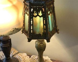 Vintage emerald lamp