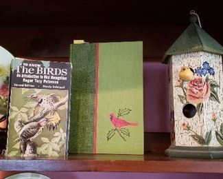 Collection of Bird Books and Decor Bird Houses