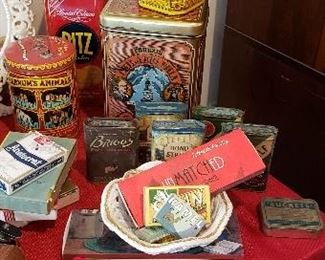 Large Collection of Vintage Tins