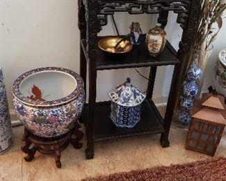 Vast amount of Oriental Pots and Decor Items