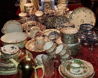 Larger Assortment of Fine China and Porcelain Plates Limoges