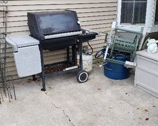 Grill and Outside Furniture