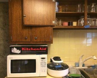 Aroma air fryer, microwave, drying rack