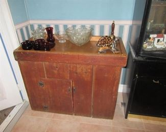 copper lined dry sink