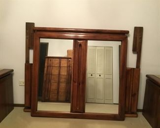 Mirror and Queen size headboard (Never slept on mattress available)