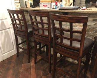 6 bar-height swivel seat bar stools from Frontgate