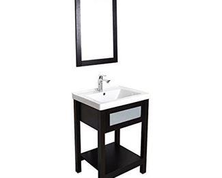 "This Elecwish 24"" vanity & mirror. New in box. No sink."