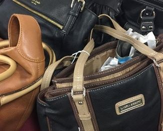 Handbags including Coach, D&B, Banana Republic