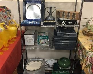 Dishes, flatware, baking pans