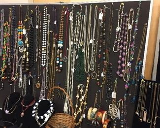 Jewelry including necklaces, bracelets, earrings, pins
