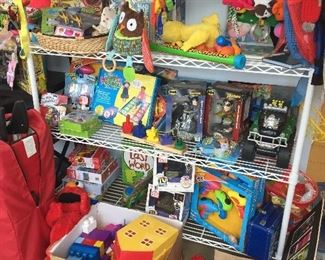 Toys, puzzles, books