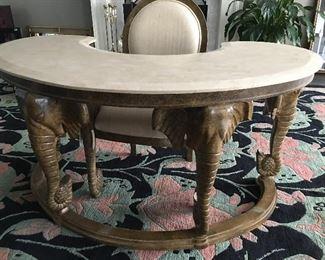 Casa Bique Furniture Elephant Desk and Chair