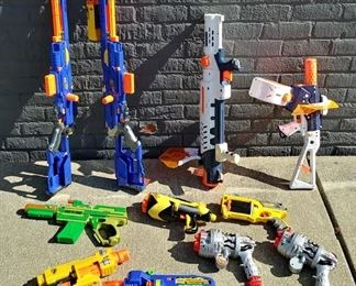 Nerf guns and Super Soaker's