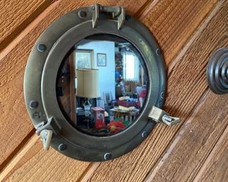 Vintage port whole mirror