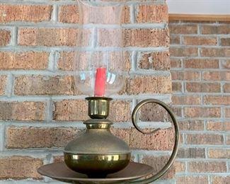 Brass candlestick with a hurricane (2)