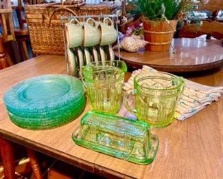 Some great green depression glass
