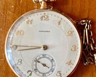 14 karat Longines pocket watch