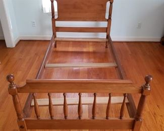 Sanford Furniture Hard Rock Maple Twin Bed