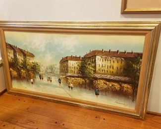 Oil On Canvas signed Pasanault