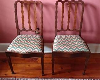 Needlepoint seats