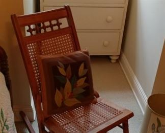 Old Cain rocking chair