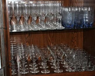 Glassware close up.