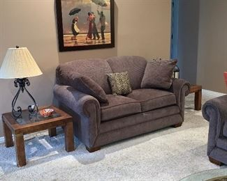 Loveseat with matching sofa like new