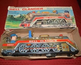 Vintage Tin Litho Toy Train in Original Box