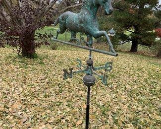 Smith & Hawken Full Body Metal Horse Weather Vane