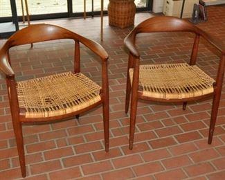 """Hans Wegner pair of """"The Chair"""" for Herman Miller"""