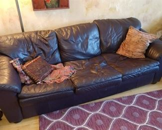 LEATHER SOFA & MATCHING LOVE SEAT