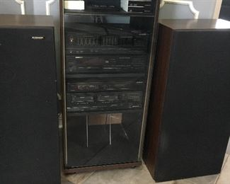 Complete stereo system sounds fantastic complete with a record player