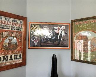 Cool artwork framed memorabilia