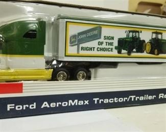 John Deere Ford Aeromax Tractor / Trailer By Spec Cast 1/64th Scale