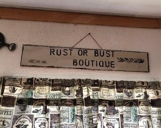 RUST OR BUST BOUTIQUE SIGN