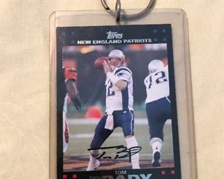 AUTOGRAPHED TOM BRADY FOOTBALL CARD 7 OUT OF 12.  CODE 14 AUTHENTICATION