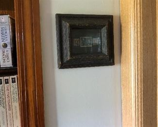 OLD STAMPS IN AN ANTIQUE FRAME