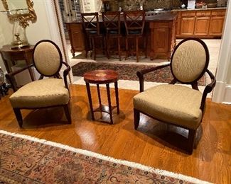 Pair of Bakers Arm chairs