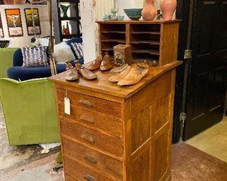 Antique postman's desk