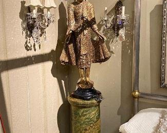Giltwood Asian sculptures