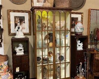Baker displayed cabinet.