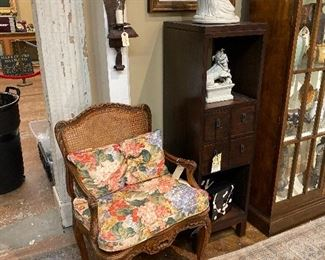 French caned arm chair